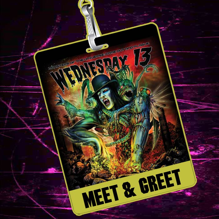 Buy Wednesday 13 Meet and Greet Packages