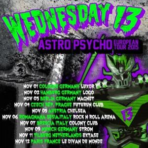 Wednesday 13 - Astro Pshycho Tour 2015