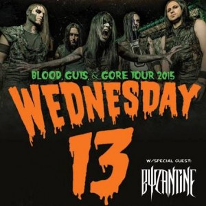 Wednesday 13 - Blood, Guts and Gore U.S. Tour 2015