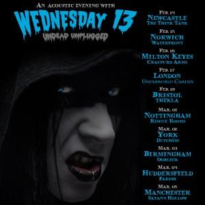WEDNESDAY 13 - Undead Unplugged UK Tour 2016