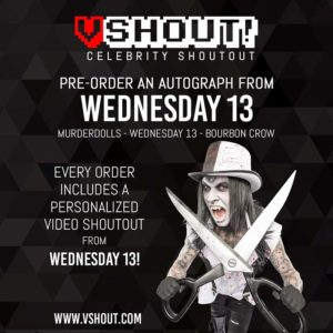 Wednesday 13 on VSHOUT CElebrity Shoutout